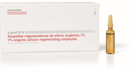 x.prof 014 1% organiskā silīcija ampulas